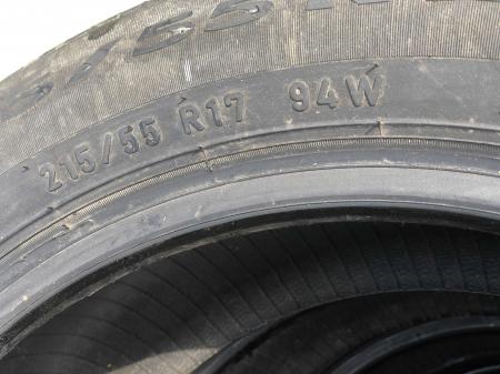 set 4 anvelope 215/55 R17 sh vara Pirelli 6.5mm cu garantie [4]