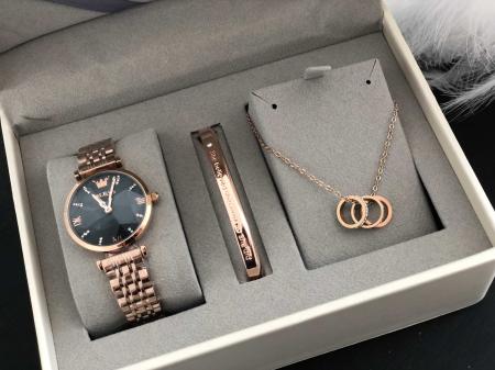 Set pentru femei 3 buc Luxury ceas, bratara, colier [1]