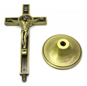 Ornament Iisus Crucifix Hristos Figurina din metal tip cruce1