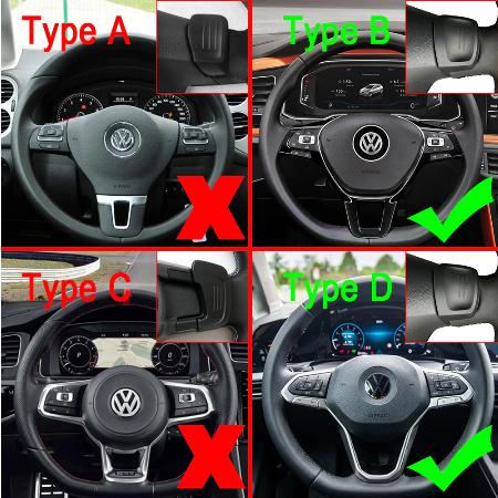 Set 2 padele volan pentru VW, Shift Paddle, VW Golf7.5 MK7 Golf8 MK8 VW POLO MK6 Touareg Passat B8 2017-2020 [7]