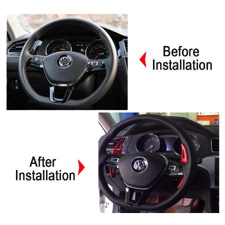 Set 2 padele volan pentru VW, Shift Paddle, VW Golf7.5 MK7 Golf8 MK8 VW POLO MK6 Touareg Passat B8 2017-2020 [6]
