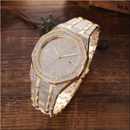 Set cadou pentru barbati 5 buc ceas luxury, curea de piele, catarama, portofel, pix [4]