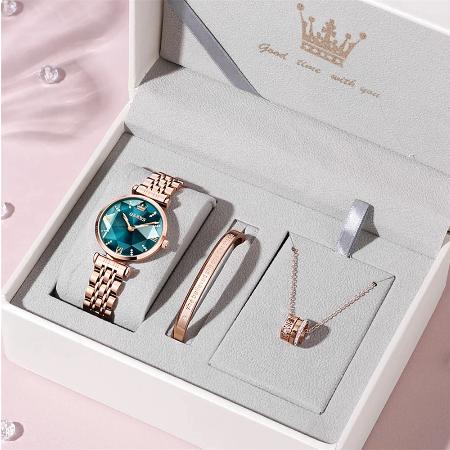Set pentru femei 3 buc Luxury ceas, bratara, colier [9]
