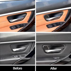 set 4 ornamente fibră de carbon pentru BMW culoare M6