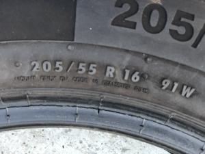 set 2 anvelope 205/55 R16 sh vara Continental 6mm cu garantie4