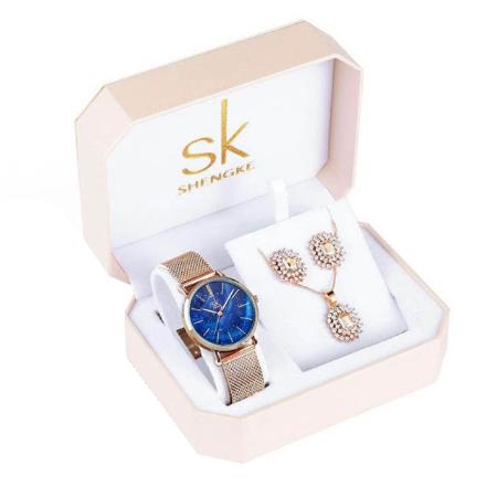 Set cadou 4 buc pentru femei: ceas, cercei, colier [0]