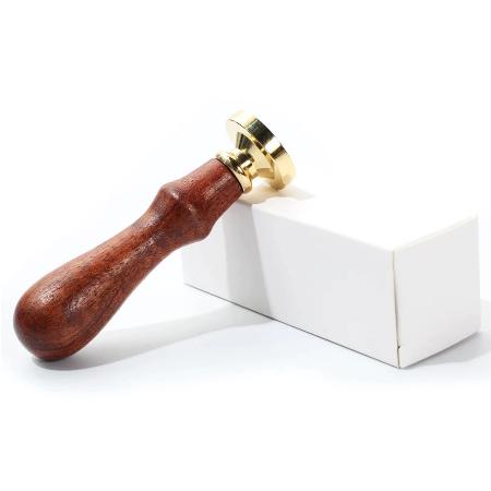 Set Sigiliu de alama, Stampila ceara cu maner lemn - diferite modele [6]