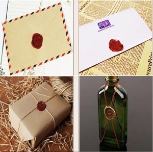 Set stampila + ceara + lingura (made with love)6