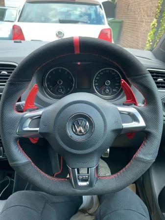 Set 2 padele volan pentru VW, Shift Paddle, VW Tiguan Golf 6 MK5 MK6 Jetta GTI R20 R36 CC Scirocco [4]