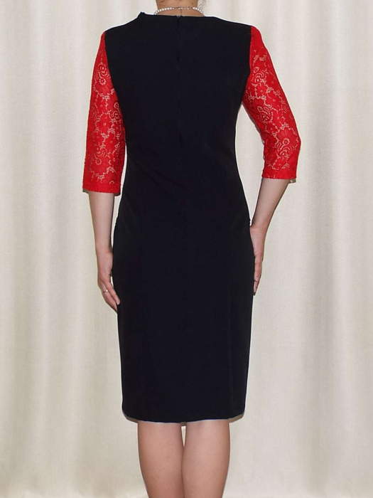 Rochie eleganta cu maneca trei sferturi - Anabela Rosu 1