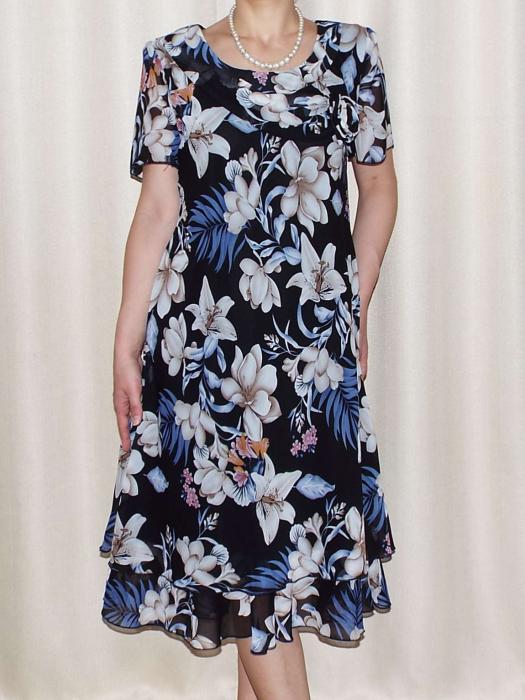 Rochie vaporoasa din voal cu imprimeu floral - Alexandra 6 0