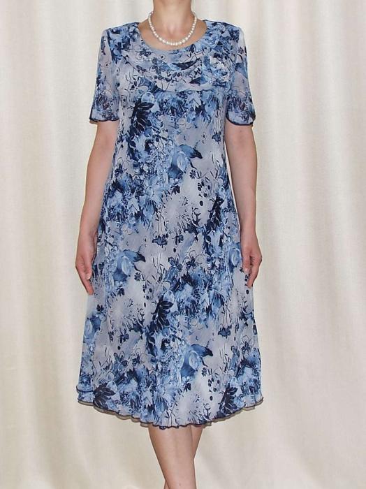 Rochie de vara din voal cu imprimeu floral si brosa - Alexandra 12 [0]