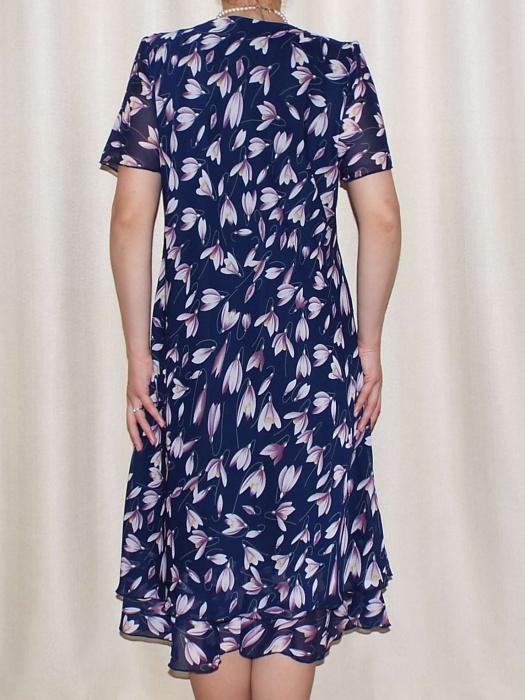 Rochie eleganta din voal cu maneca scurta - Alexandra Bleumarin 1