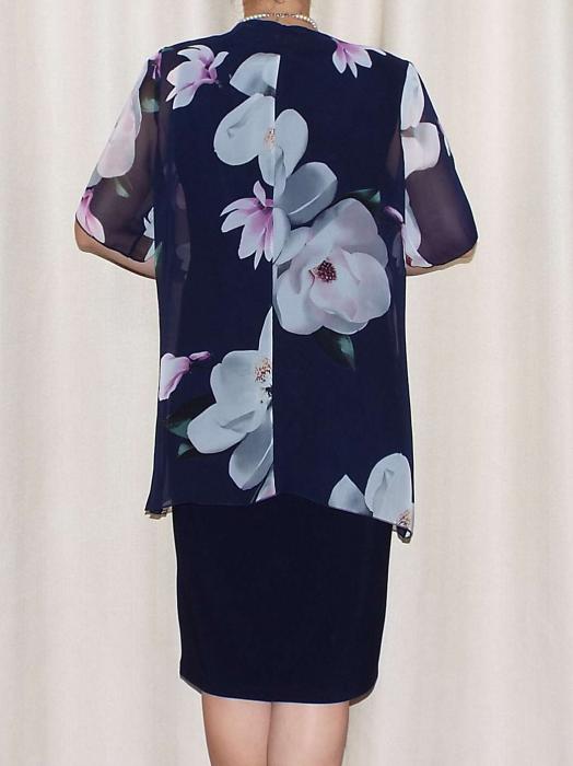 Compleu elegant dama - rochie si blazer - Ama Floral [2]
