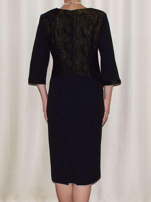 Rochie eleganta cu maneca trei sferturi si accesoriu - Andrada 1