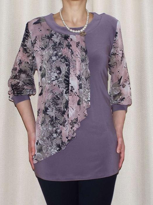 Bluza dama cu imprimeu si maneca trei sferturi - Sofia Mov 0