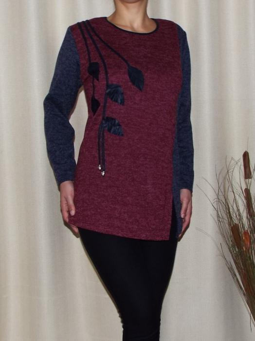 Bluza dama din tricot cu maneca lunga - Mara Grena 0