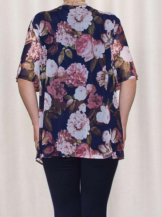 Bluza dama lejera cu imprimeu floral - Victoria Bleumarin [1]