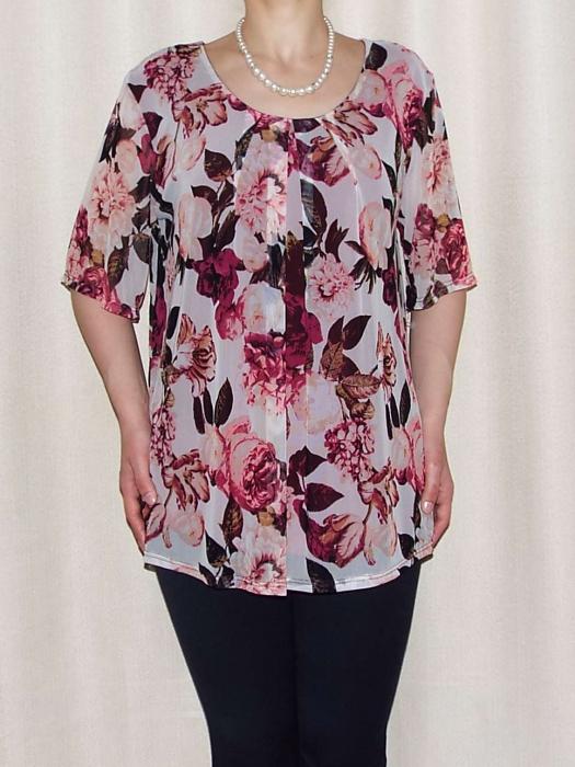 Bluza dama lejera cu maneca scurta - Victoria Visiniu 0
