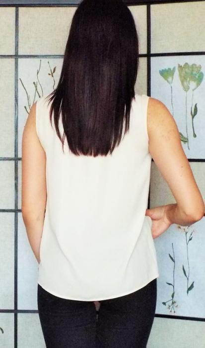 Bluza dama voal piersica- Contrast 2