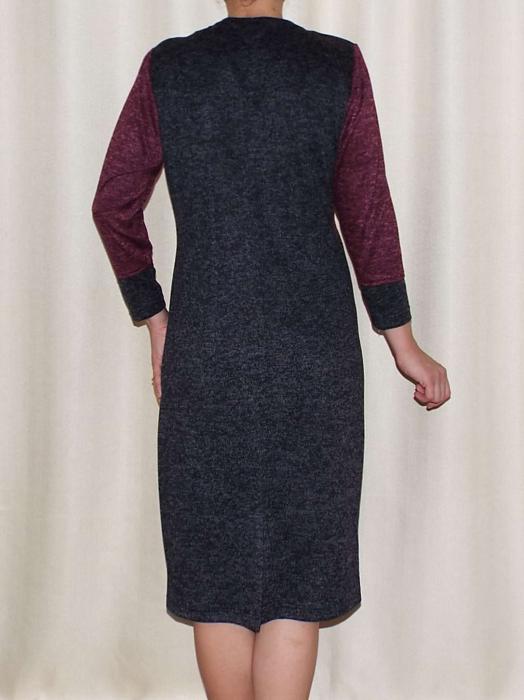 Rochie de zi din tricot cu maneca trei sferturi - Codruta 1