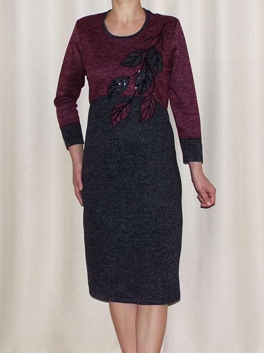 Rochie de zi din tricot cu maneca trei sferturi - Codruta 0