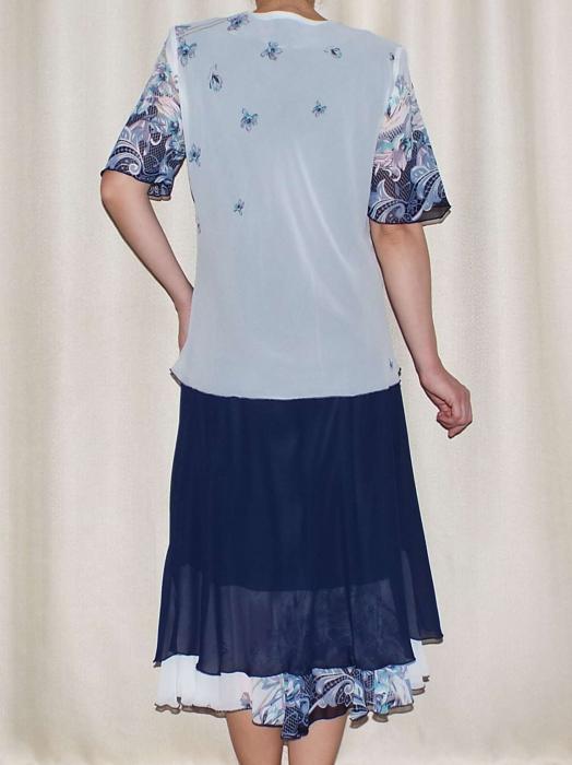 Costum dama din voal cu brosa detasabila - Despina 1