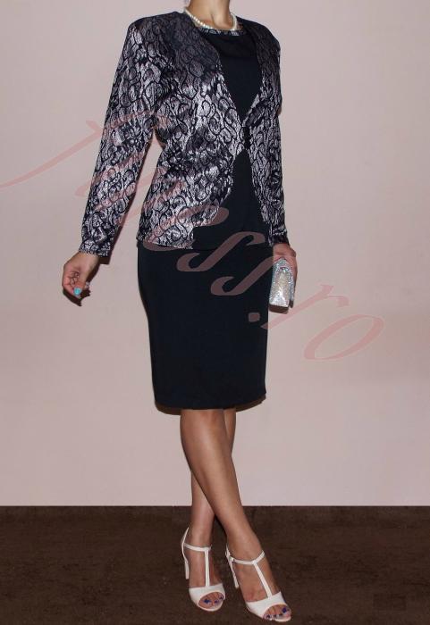Costum dama elegant din stofa si dantela - Teodora [1]