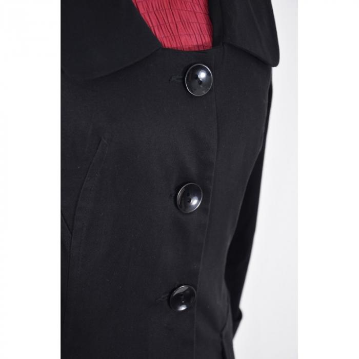 Costum office negru cu maneca trei sferturi - C004FS8.1 [2]