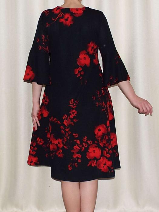 Rochie lejera de zi cu imprimeu floral - Matilda Rosu 2