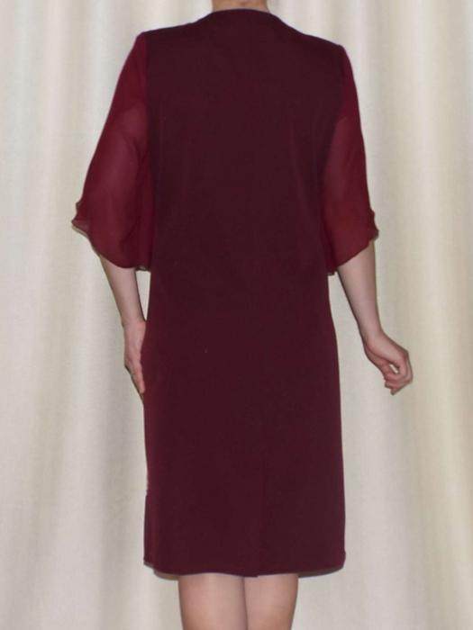 Rochie eleganta din stofa cu maneci din voal - Eliana Bordo 2