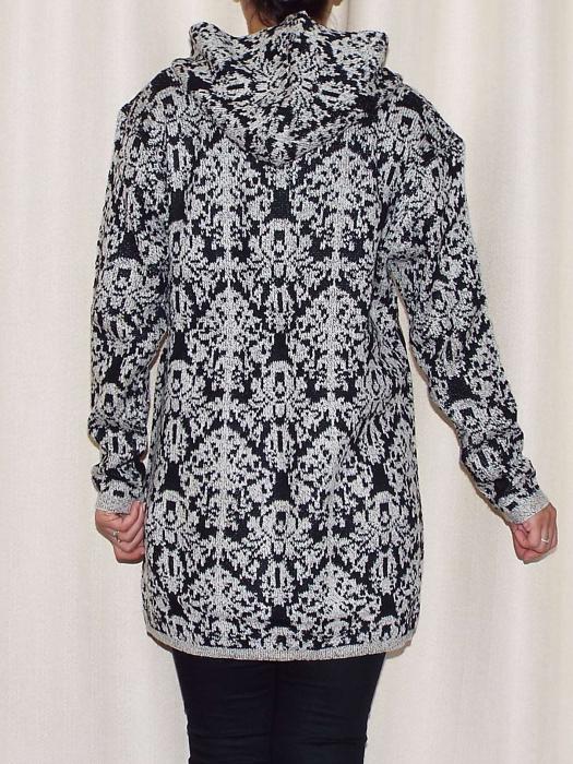 Cardigan dama din tricot cu gluga si buzunare - C015 [2]