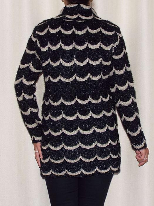 Cardigan dama tricotat cu guler si buzunare - C021 [2]