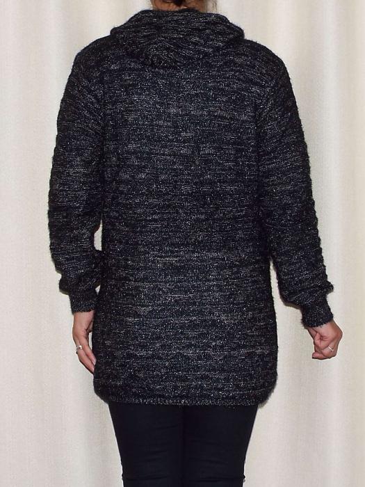 Cardigan dama din tricot cu gluga - C020 [2]