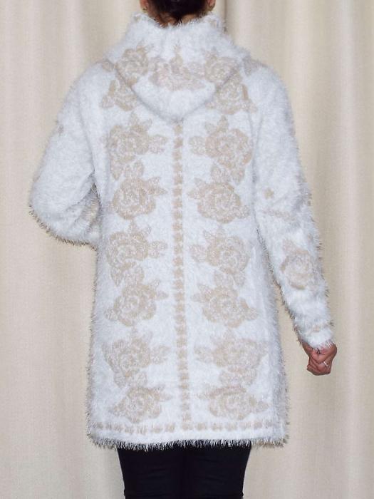 Cardigan dama tricotat cu gluga si buzunare - C013 [3]