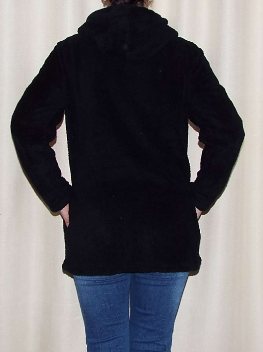 Hanorac dama negru cocolino cu gluga - HR06 1