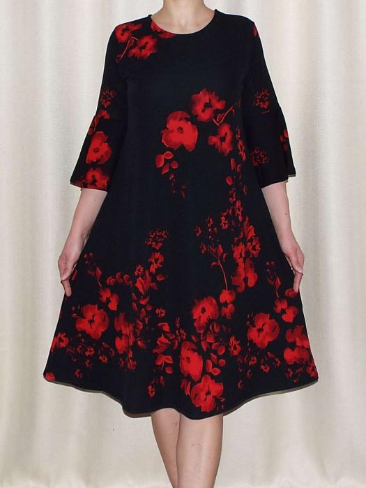 Rochie lejera de zi cu imprimeu floral - Matilda Rosu 0