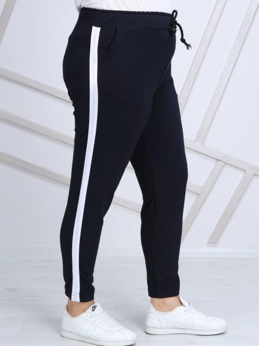Pantaloni dama sport din bumbac bleumarin - P020 0