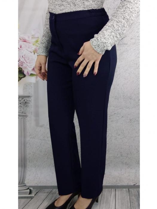 Pantaloni bleumarin dama cu elastic in talie - P021 [1]