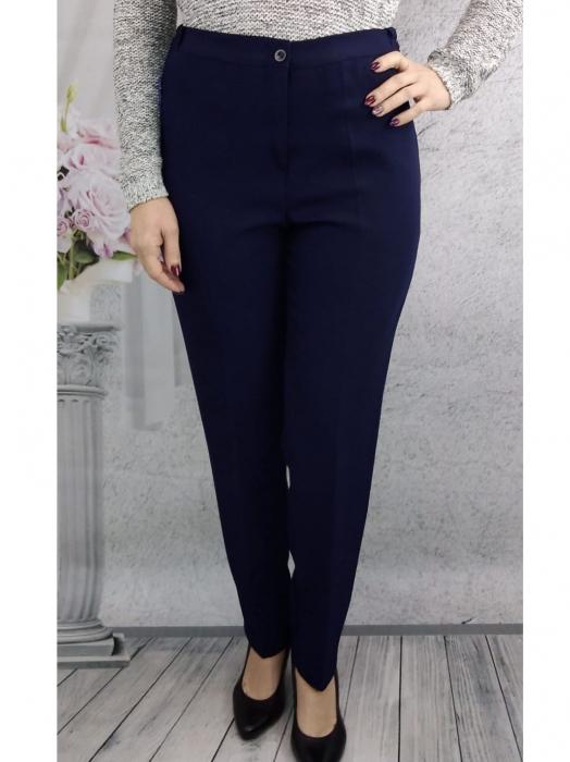 Pantaloni bleumarin dama cu elastic in talie - P021 [0]