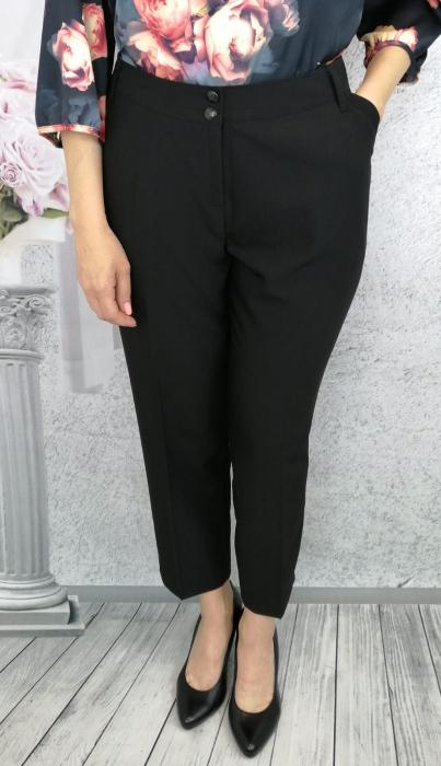 Pantaloni dama eleganti din stofa neagra - P014 2
