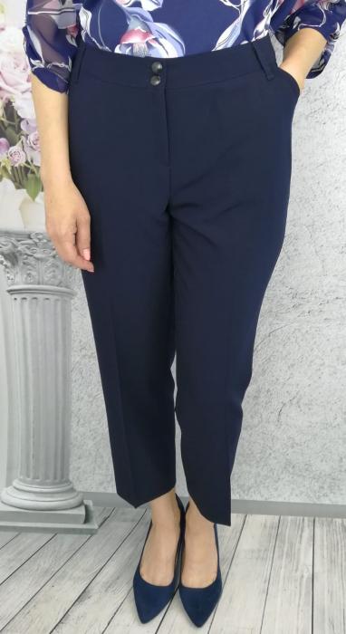 Pantaloni dama office din stofa cu buzunare - P015 1