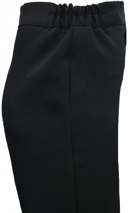 Pantaloni negri dama cu elastic in talie - P010 2