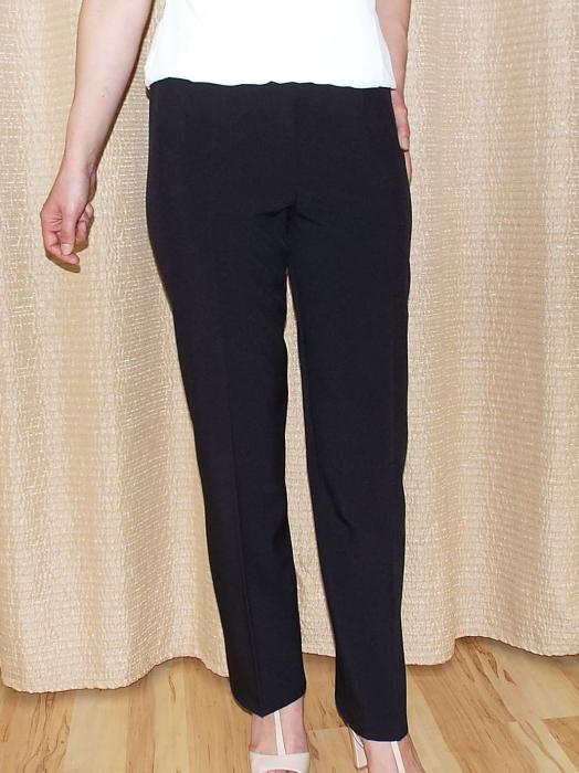 Pantaloni negri dama cu elastic in talie - P010 0