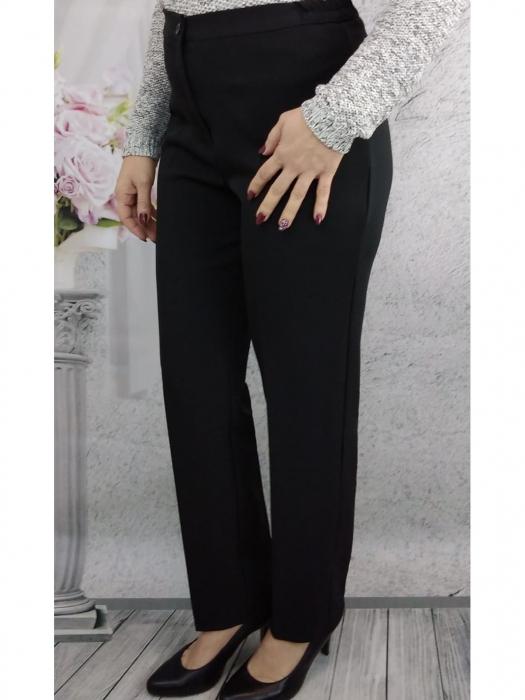 Pantaloni negri dama cu elastic in talie - P010 [3]