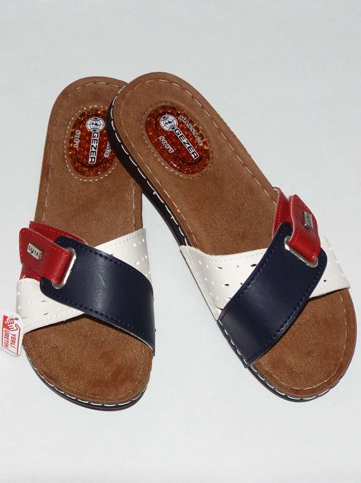 Papuci dama cu catarama reglabila si talpa anatomica cu gel - Gezer 4 [1]