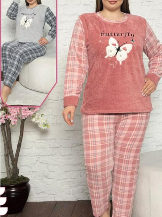 Pijama dama cocolino cu maneca lunga - PJM03 [0]