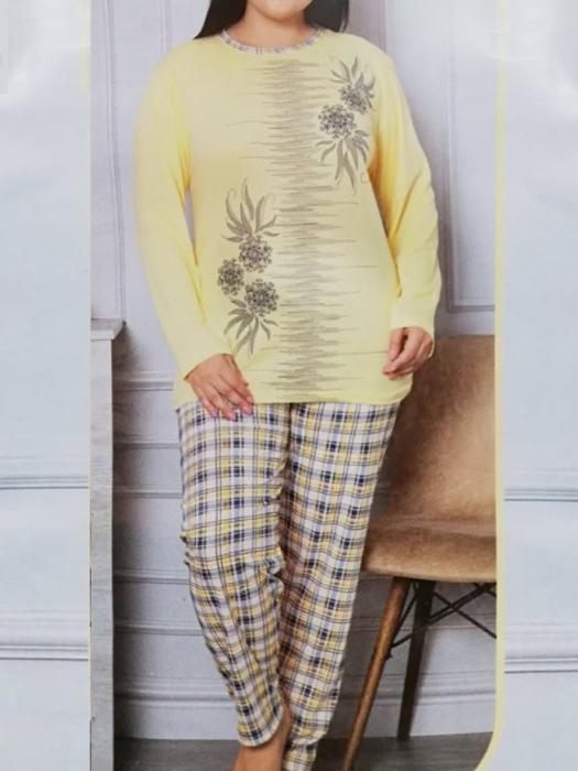Pijama dama din bumbac cu imprimeu - PJM07 [0]
