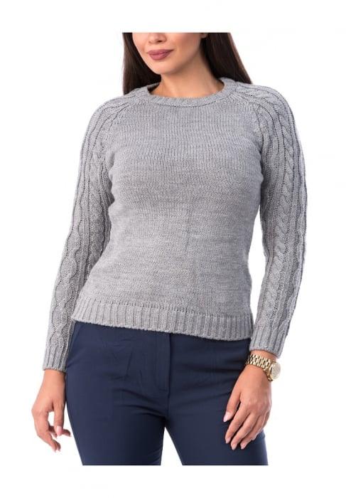 Pulover dama tricotat cu maneca lunga - P8005 0