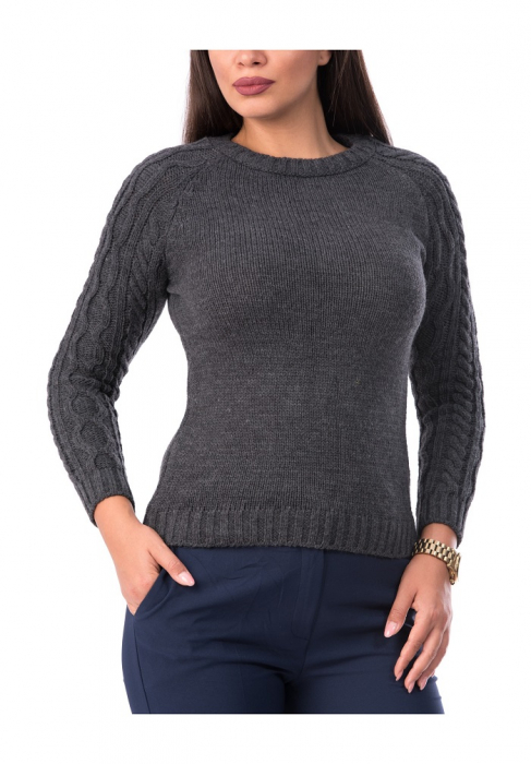Pulover dama tricotat cu maneca lunga – P8005g 0